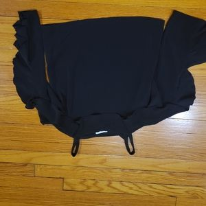 H&M Black Blouse withe Ruffles - Size 0